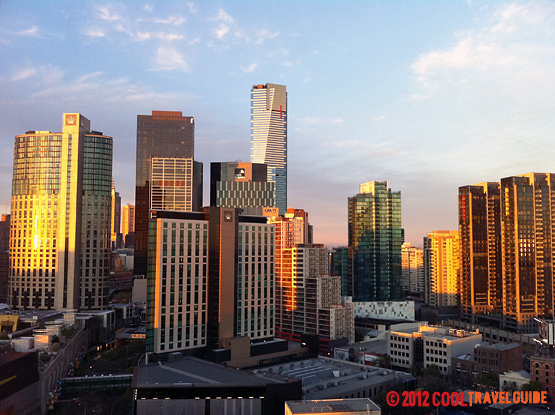 Melbourne skyline from the Crown Metropol.