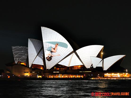 Sydney Opera House during Vivid Festival.