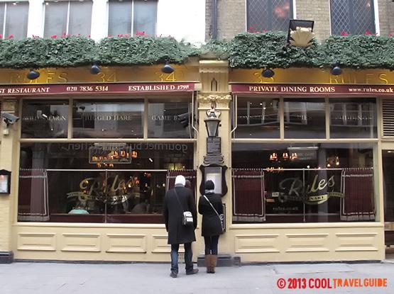 Rules Restaurant, London.