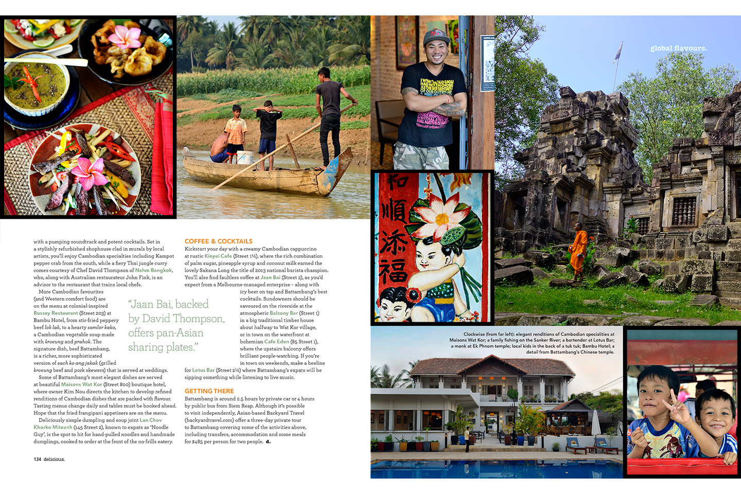 BBC Delicious Magazine (Australia). Global Plates feature on Battambang, Cambodia. Lara Dunston. Photography: Terence Carter.