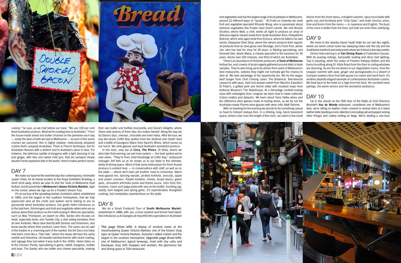 Lifestyle+Travel Magazine —Mouthwatering Melbourne. Lara Dunston. Photography: Terence Carter.