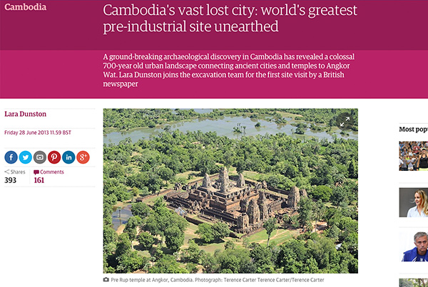The Guardian  — Cambodia's vast lost city